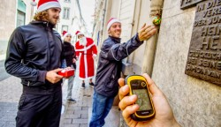 Weihnachtsfeier Geocaching Oberes Dörfle